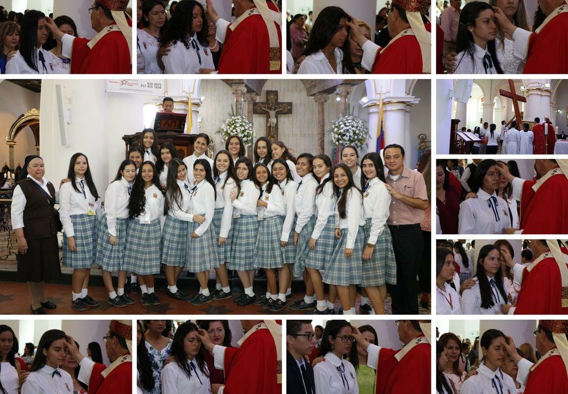 7926599c ... reafirmaron su fe en Cristo al recibir el sacramento de la confirmación  en una ceremonia que presidió el arzobispo de Bucaramanga, monseñor Ismael  Rueda ...